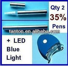 35% peroxide bleaching gel pen + laser LED blue light teeth whitening kit from tanton