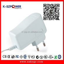 2015 k-45 12W series 100-240v AC DC ygy power supply switching 12v 1a power adapter for modem with CE UL