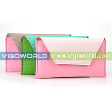 Universal cell phone felt case for Samsung galaxy Note 3 N9006 with card pouch