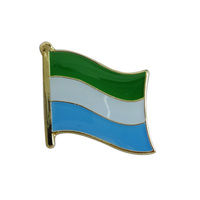 Good quality unique customized metal Sierra Leone small flag lapel pins badges