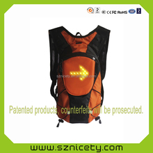 2014 Newest Backpack With LED Signal Lighting Indicator With Pilot Lamp Function For outdoor sports Safety