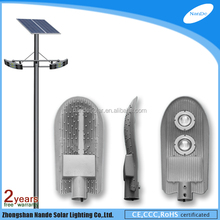 2015 engineering plastics for battery solar powered security light with double light arms