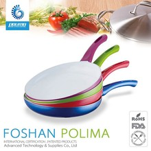 Stock no oil alumium non-stick ceramic fry pan with removable handle