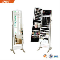multi-drawer standing mirror jewelry store cabinet, home furniture