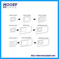 Noosy all in 1 SIM card adapter kits, Nano/Micro sim card adapter, PMMA SIM adapter kits