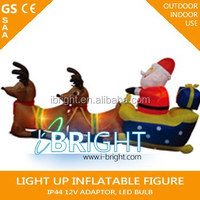 2015 cheap Christmas Inflatables/inflatable santa clause with 4pc reindeer for christmas decoration