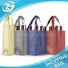 Reusable Varies Size Non Woven Portable Folding Wine Bottle Bag Carrier