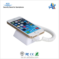 Retail mobile phone store display security solution,anti-theft security charging display alarm stand for cell phone A33