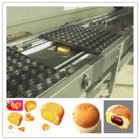 2015 Hot 400kg/h Large Capacity High Quality Full-automatic Egg Pie Muffin Cake Production Line