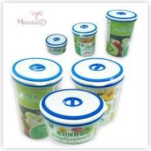round food fresh box, food fresh container, plastic food container