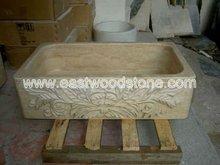 Natural pedra de mármore Farm pia da cozinha