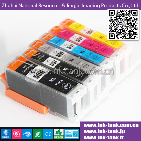 PGI-550 / CLI-551 compatible canon ink cartridge with chip