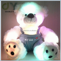 led light pets plush toy with repeat talking device for kids