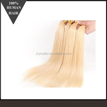 Online Shop Alibaba Human Hair Blonde European Virgin Hair weft, silky straight brazilian blonde hair