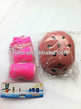 Pink safety helmet with protective pads