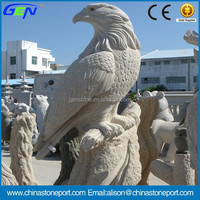 Eagle Style Natural Granite Stone Animal Sculpture