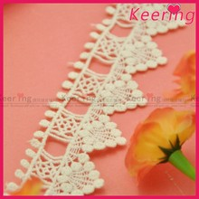 factory wholesale water soluble embroidery cotton lace WLC-004