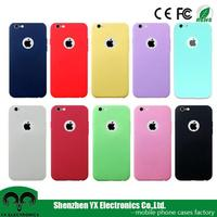 Matte ultra thin slim soft blank cell phone TPU case for iphone 6s manufacturer