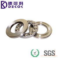 China made high level 511111 3 inch stainless steel thrust ball bearing