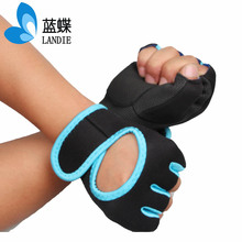 half finger boxing leather half finger black gloves