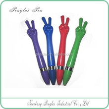 cheap plastic ballpoint hand gestures pen made in China