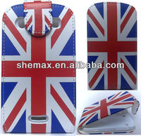 Union Jack Flip Leather Case Cover Pouch for Blackberry 9900 Bold