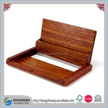 Wooden Name Card Business Card Holder Handmade Box Storage id credit case