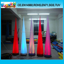 2015 hot selling inflatable lighting cones for party