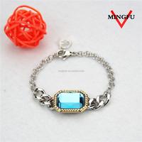 Mingfu female sapphire bracelet artificial american diamond jewellery