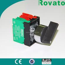 illuminated electric motor start switch, 22mm spring return rotary switch