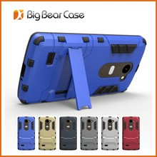 Factory shockproof slim armor stand for lg leon c40 case
