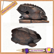 Innovative products for import lucky frog animal wood frog carvings