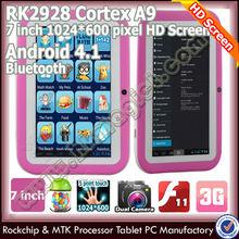 Superventas del androide de la corteza a9 de doble núcleo de la tableta táctil juegos gratis downloadwith max de almacenamiento