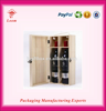 Wooden Wine Box for Hot Selling 2 bottles wood wine carrier wine crate
