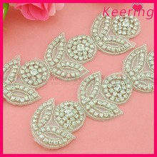 new handmade blingbling A-class rhinestone applique trim for bridal accessory WRA-640