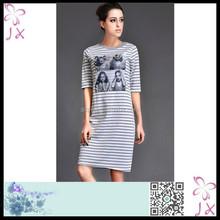 Tights stripe black and white short dresses JXWC-0690