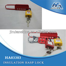 "Hasp Lock(1"") ,Lockout Hasp with Vinyl Coated Handle"
