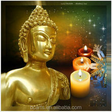 Light up buddha canvas painting led light candles mural decor wholesale