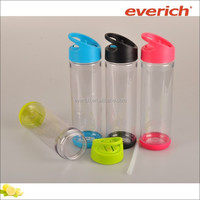 Hot sale food grade Plastic tritan kids water bottle with straw and handle