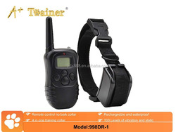 electric shock rechargeable and waterproof bark collar dog pet training supplier