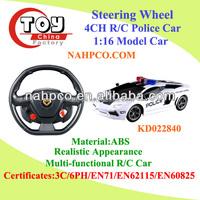 Steering Wheel 1:16 4CH R/C Police Car/High-speed Racing Car With Sirens