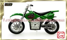 Lively zinc alloy Motorcycle metal table clock
