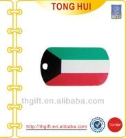 Cheap Flag logo dog tag necklace OEM