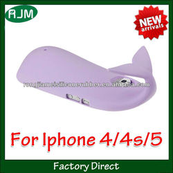 2013 hot sell purple cover phone/ phone case of cell phone case for iphone 4 (washable)