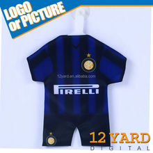 Italy famous sport printing mini football t-shirt., suction cup mini jersey, window decoration jersey YG-100