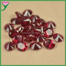 Facets Gems 8 # color 10*12mm synthetic oval diamond cut red corundum stone for sale