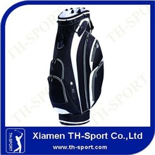 black and white color golf cart bag from China manufacturer