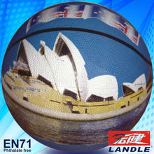 official size new style rubber made American basketball set