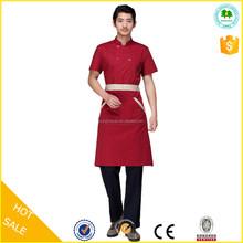 2015 OEM factory wholesale short sleeve bellboy uniform for hotel