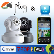 Manufacture Wireless network Robot P2P 720P H.264 WiFi household Ip camera